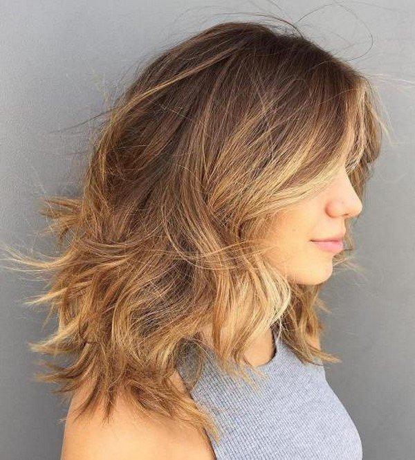 Стрижки на средние волосы 2017-2018 женские каскад