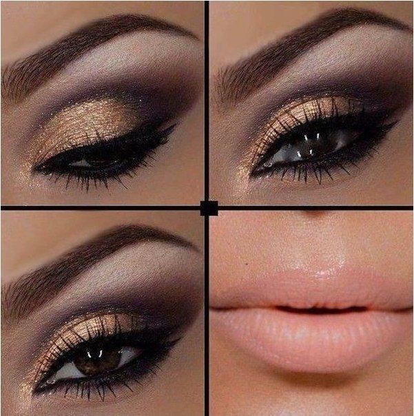 Азиатские вечерние макияжи для карих глаз фото