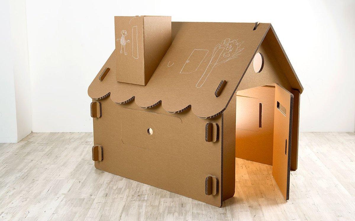 Как сделать домики из картона 806