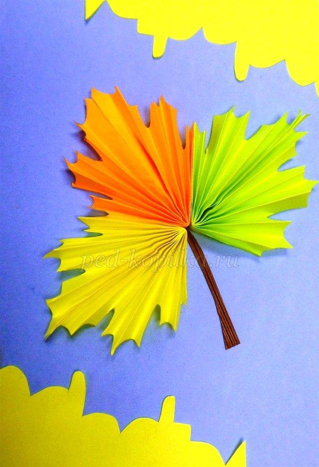 Поделки из цветной бумаги осень