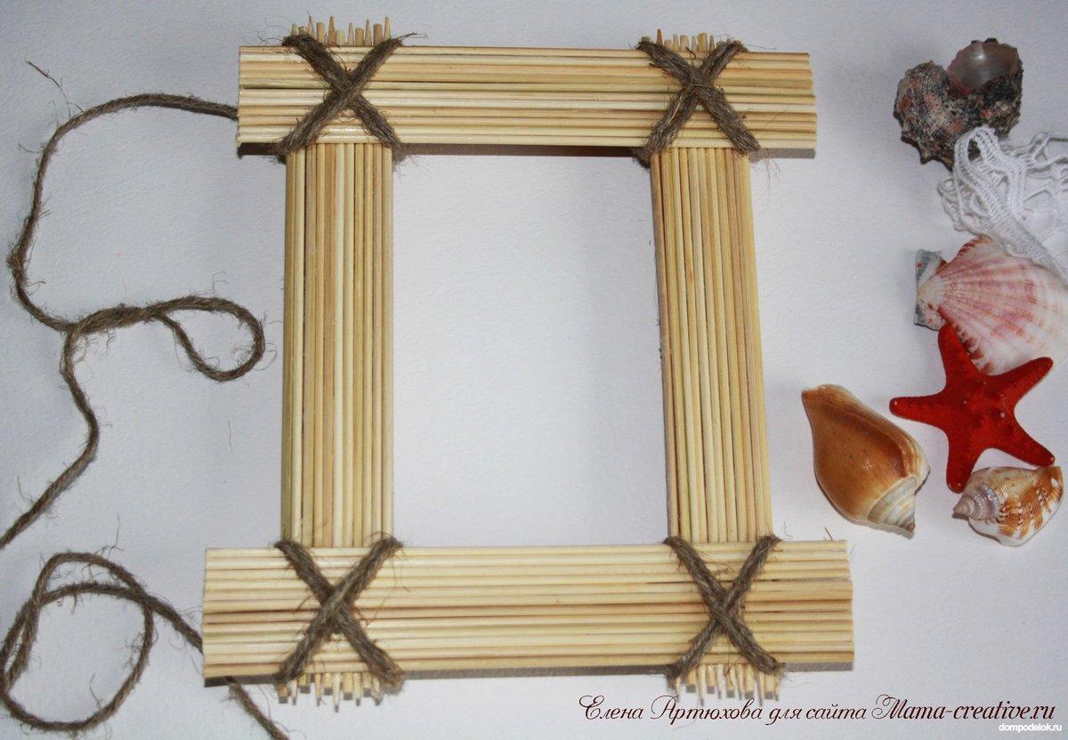 Как сделать плетеную рамку для фото