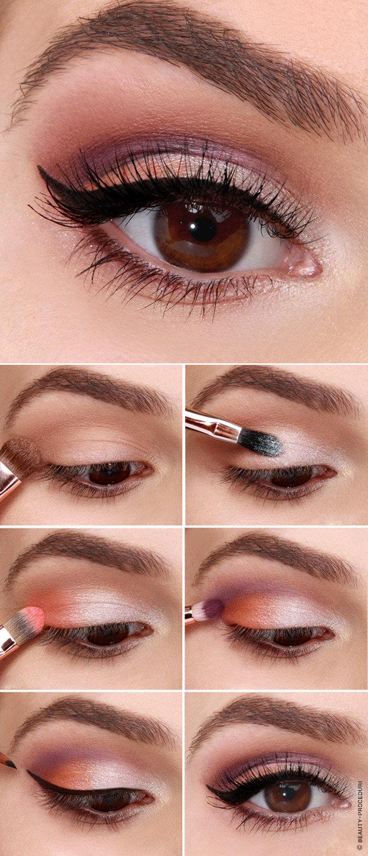 Как красиво сделать макияж в домашних условиях пошаговое фото