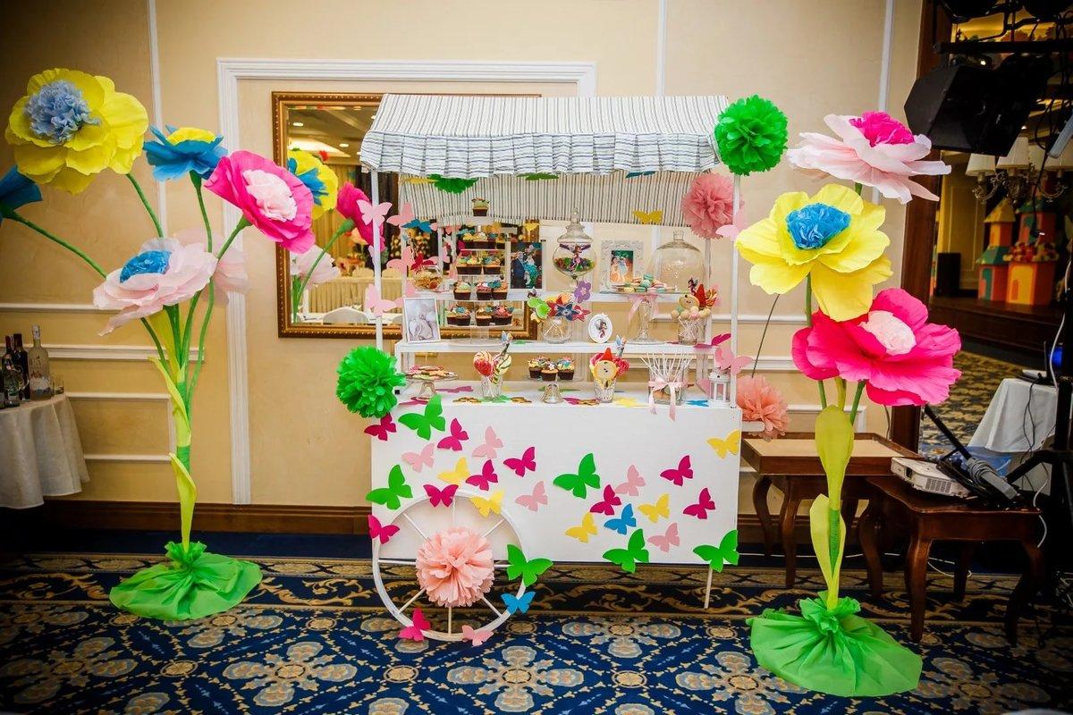 Фото оформление детского праздника цветами