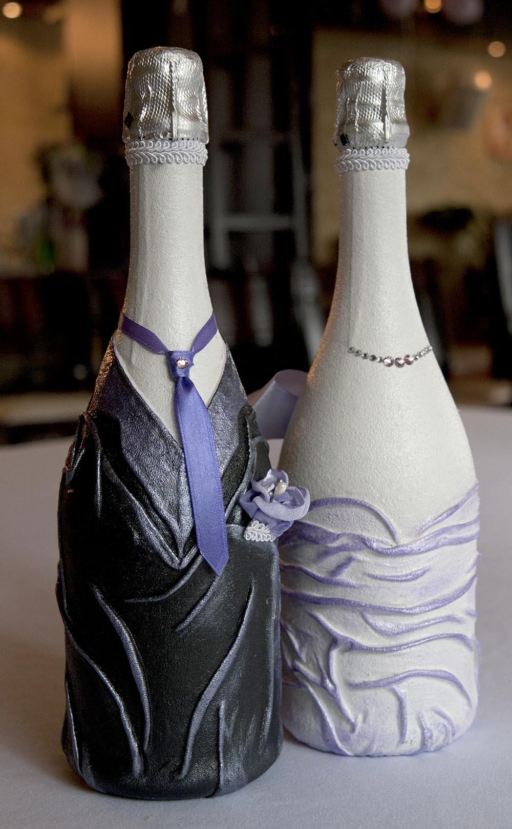 Мастер класс свадебных бутылок шампанского