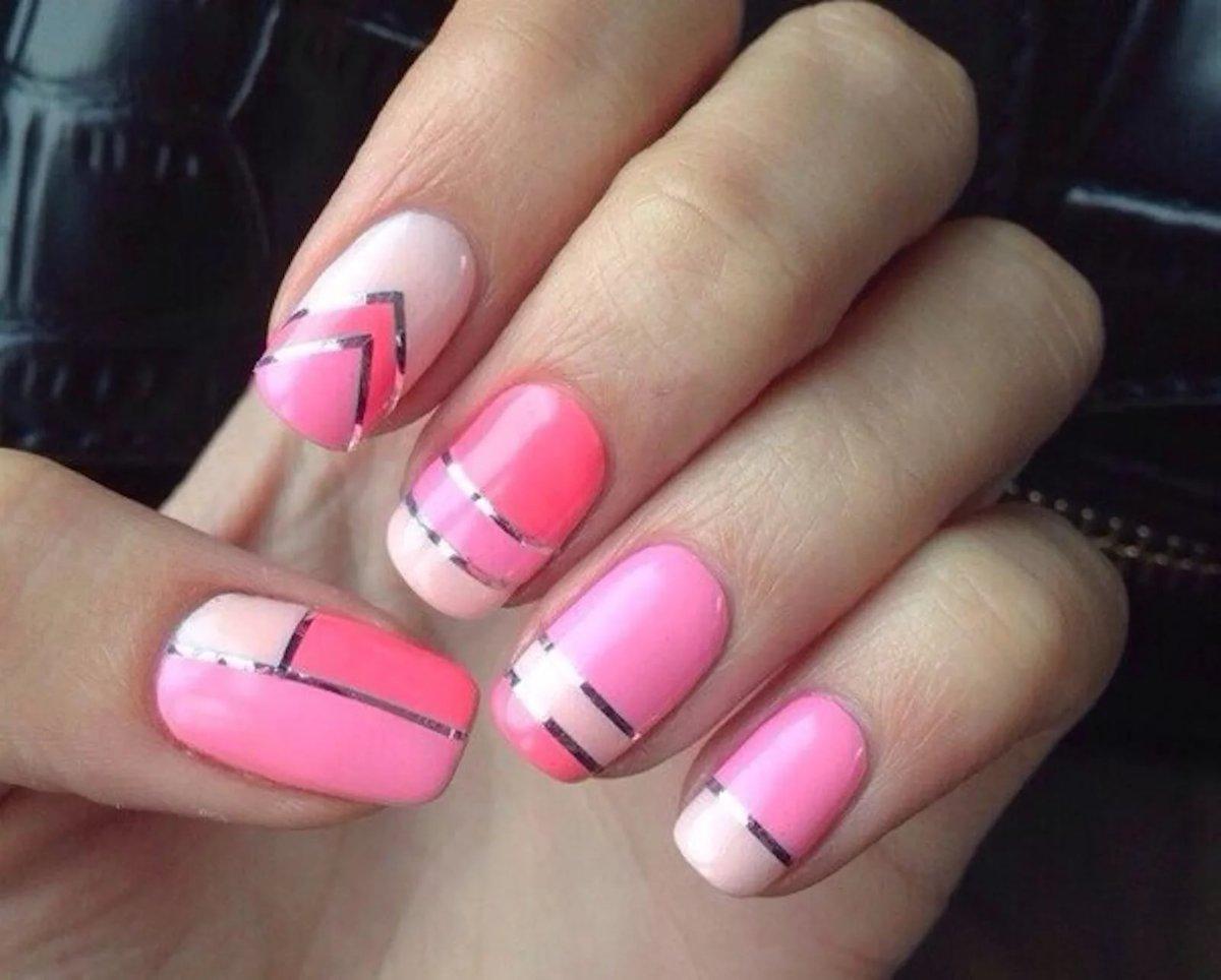Фото ногти в розовом цвете