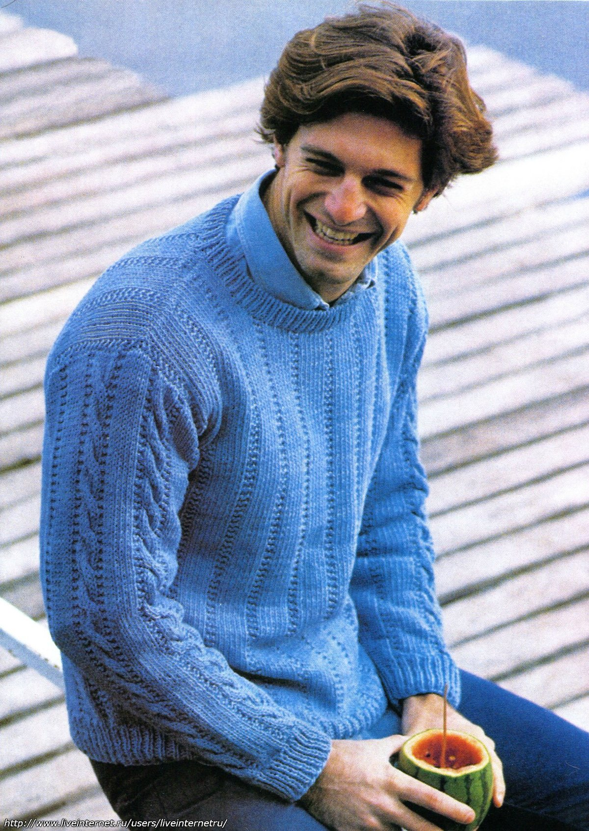 Вязание спицами фото мужской свитер