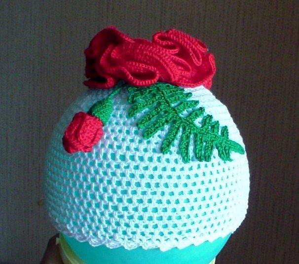 Связать шапочку сеточкой спицами для девочки 1-2 года
