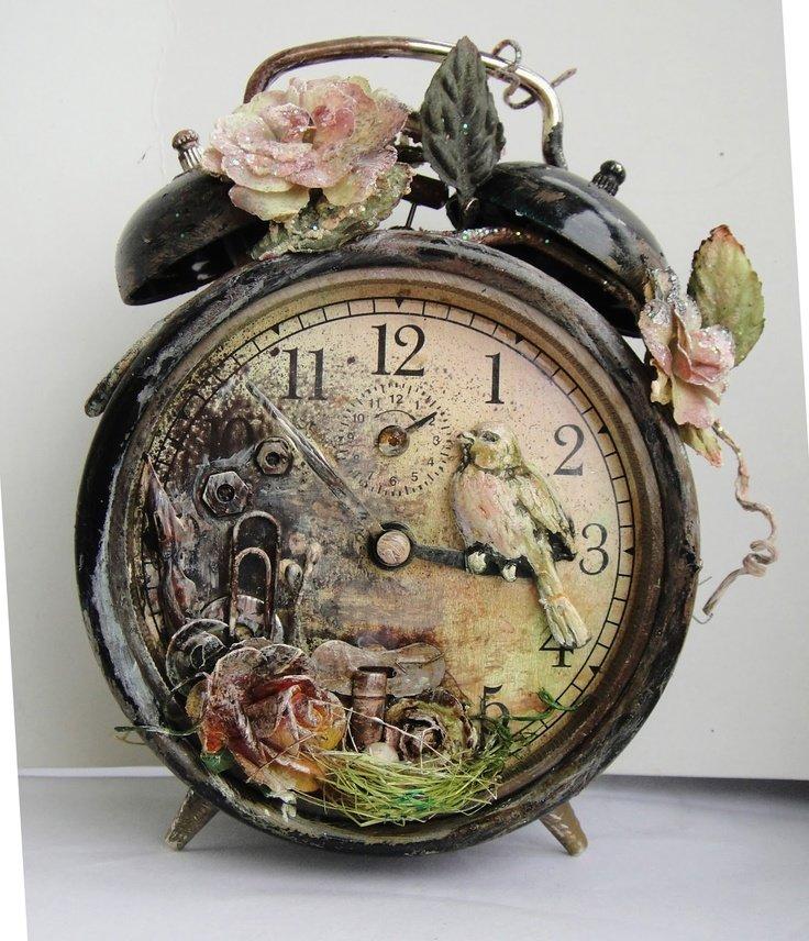 Винтажные настенные часы своими руками 60