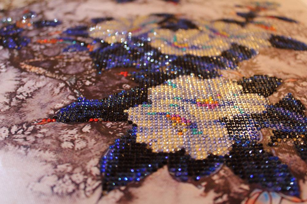 Алмазная вышивка круглыми стразами на алиэкспресс