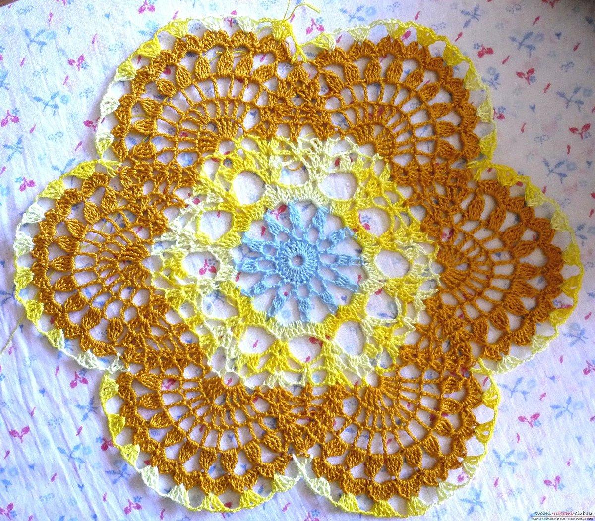 Вязание салфетки пошаговое фото