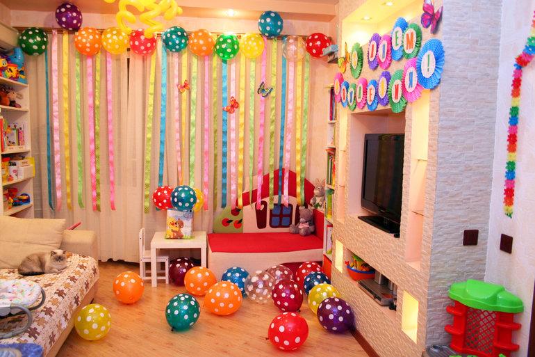 Оформление комнаты на день рождения ребенка своими руками