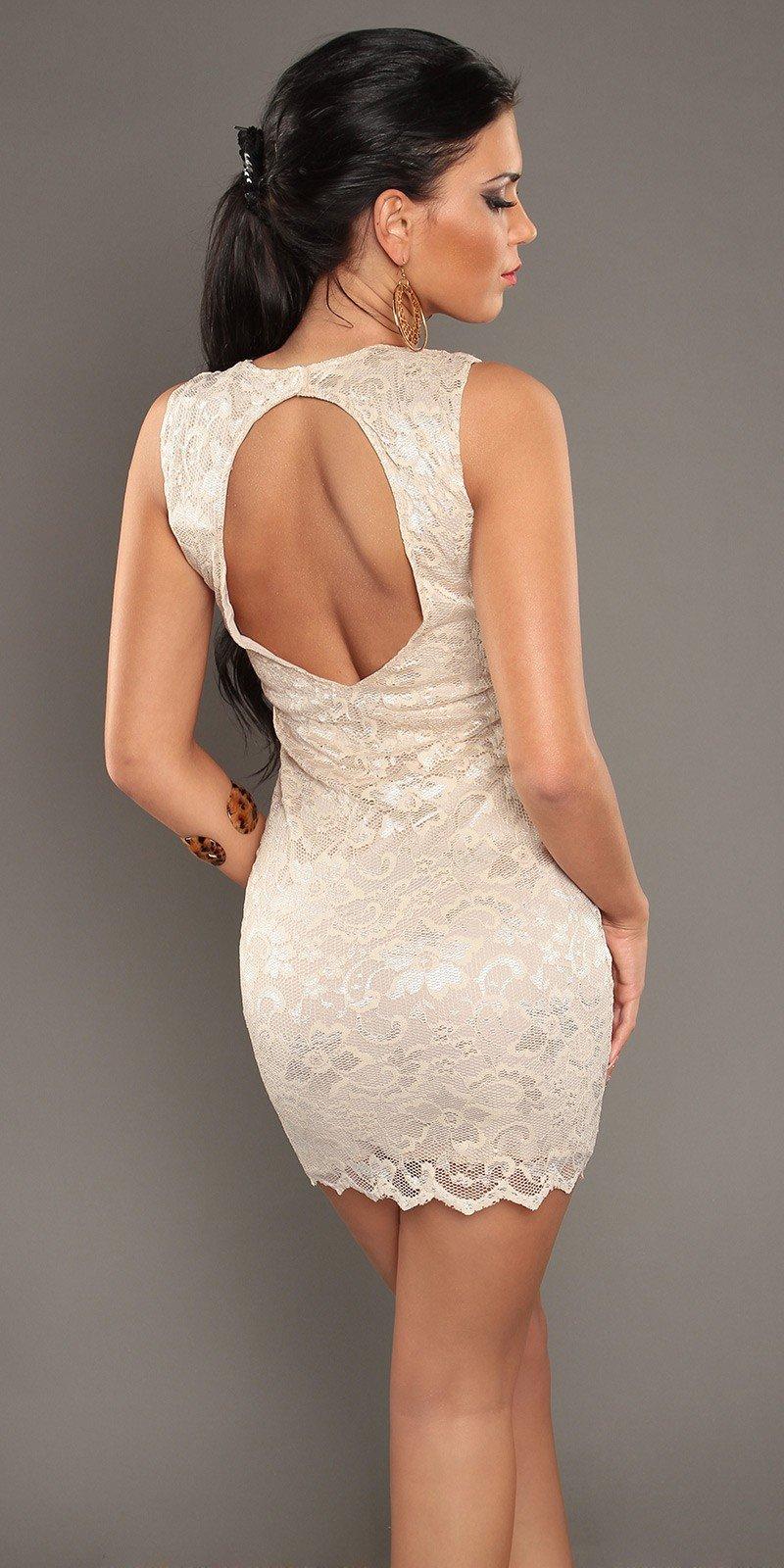Платье кружево с открытой спиной 85