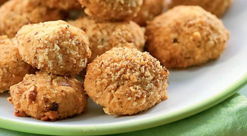Печенье с грецким орехом с и пошаговый рецепт