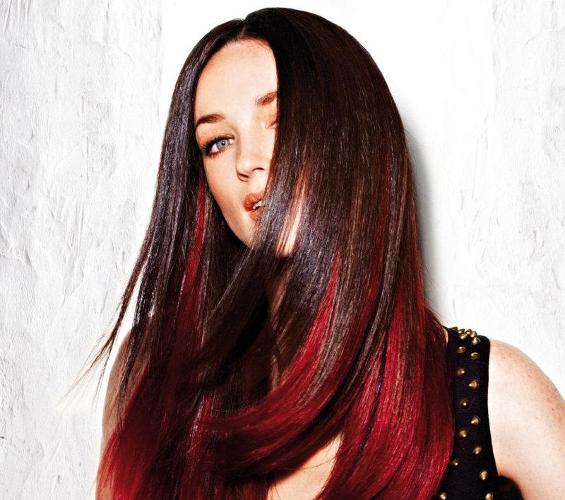 Цвет волос черно красный и
