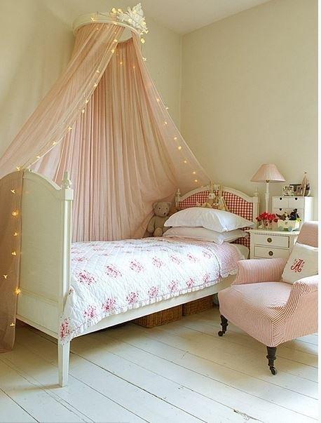 Балдахин над кроватью девочки как сделать