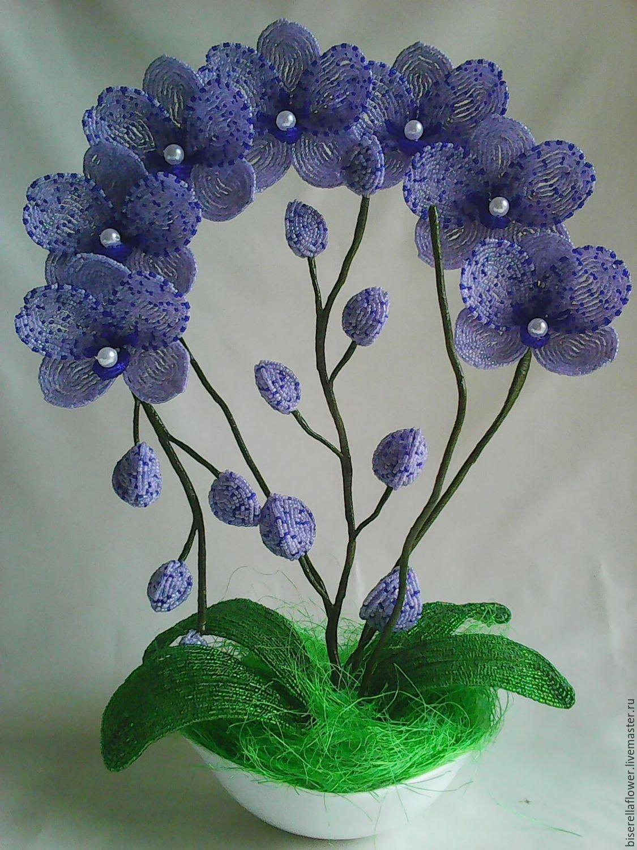 Орхидея из бисера мастер класс с пошаговым фото для начинающих, схема