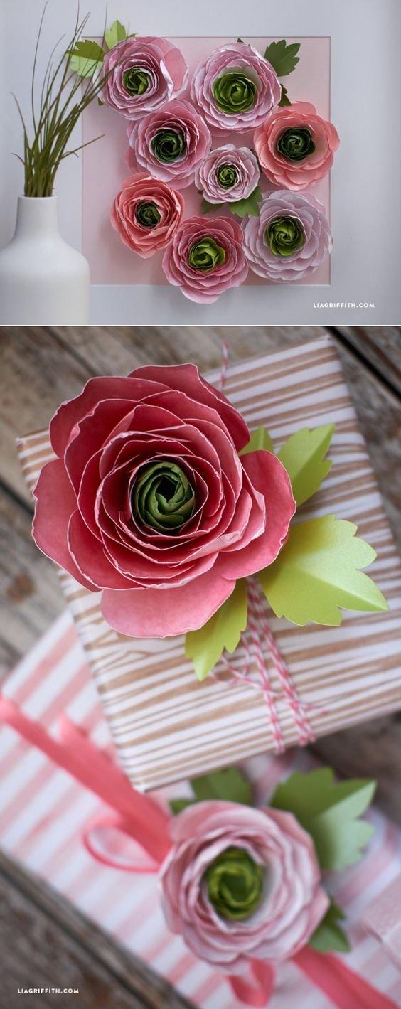 Цветы из бумаги своими руками. Мастер класс 56