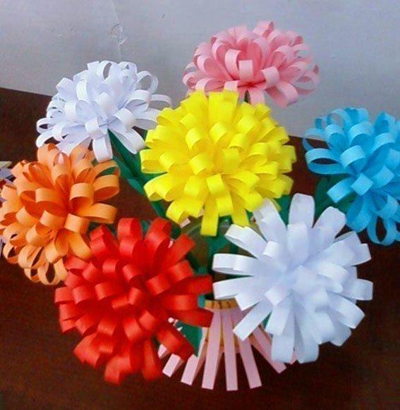 Цветочные поделки из бумаги