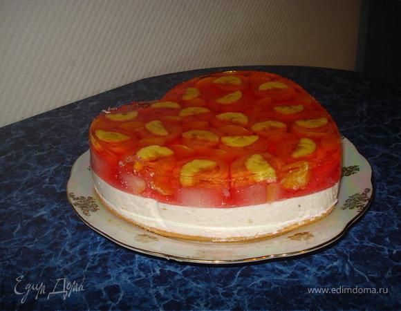 Желейный торт с пошаговым