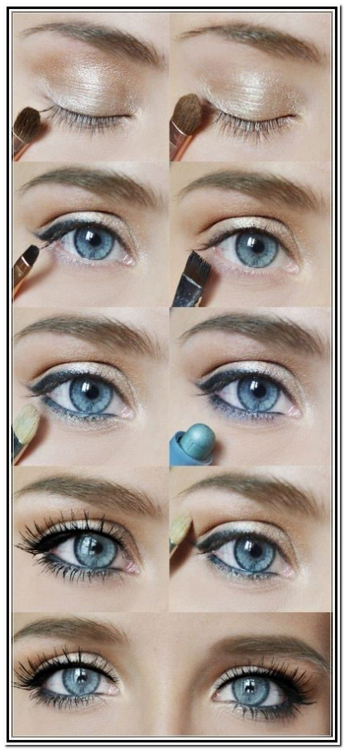Как сделать макияж под серо-голубые глаза