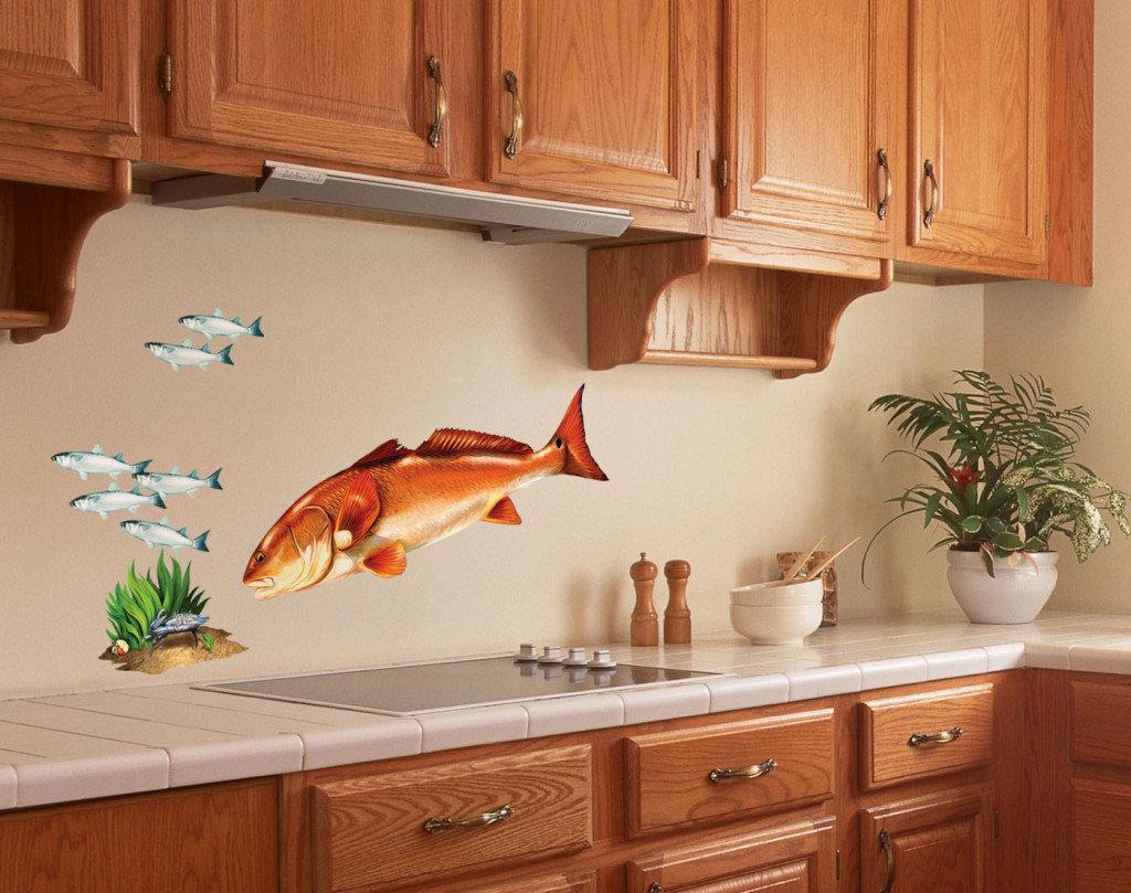 Как оформить стены кухни красиво своими руками