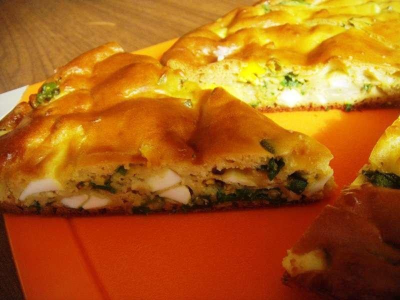 Пирог с луком в духовке рецепт с фото пошагово