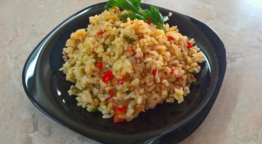 Рис с овощами рецепт с фото пошаговый рецепт с фото