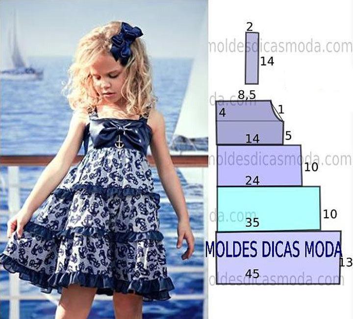 Платье для девочек. как сшить 83