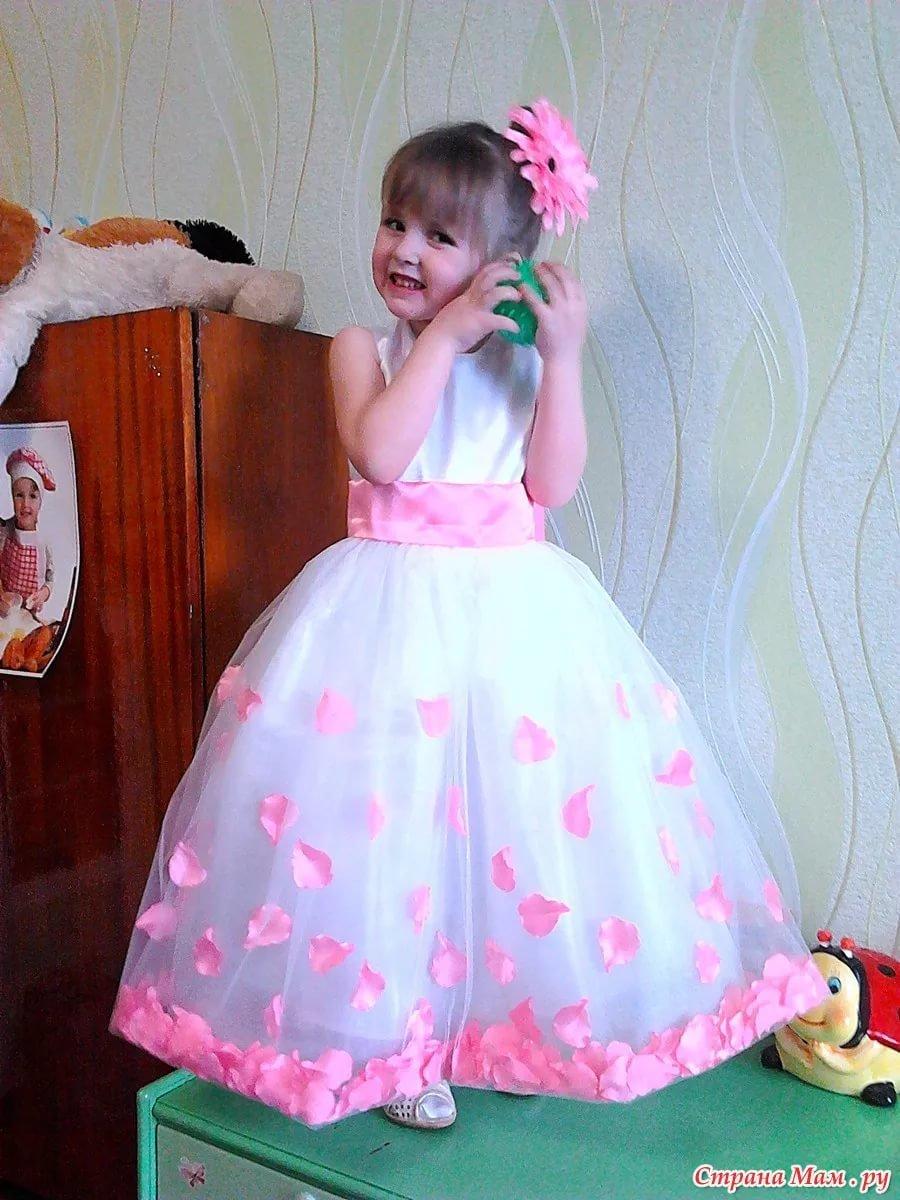 Платья для девочек нарядные своим руками 785