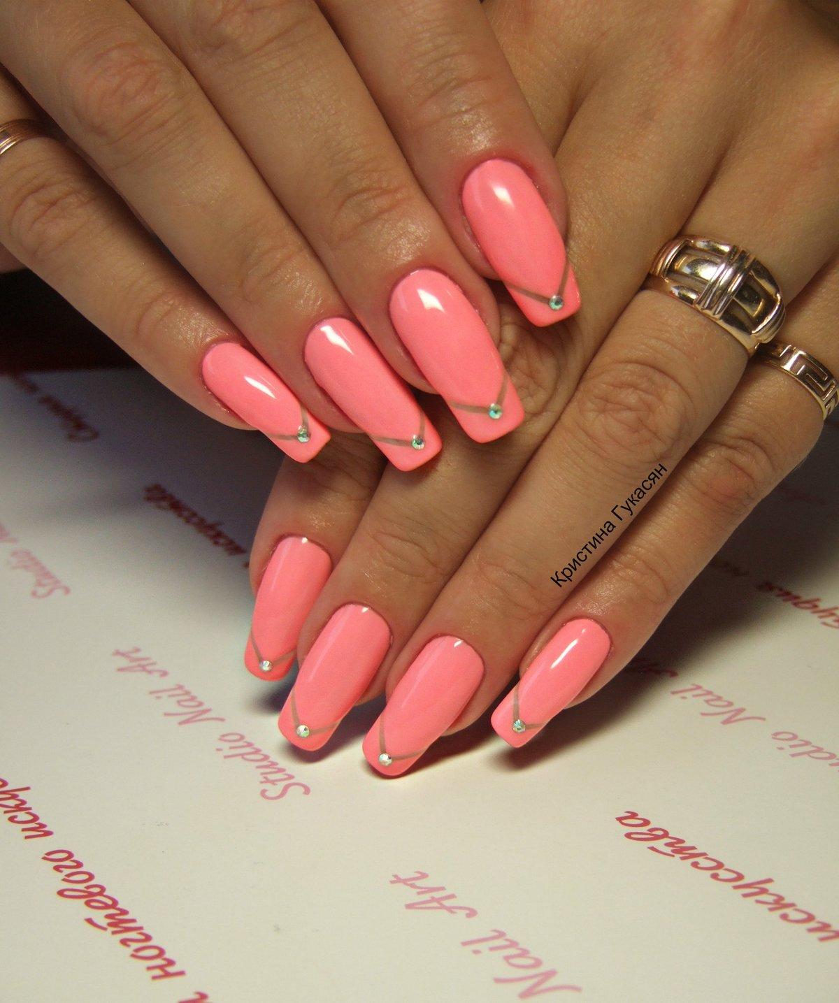 Дизайн ногтей шеллак на длинные ногти