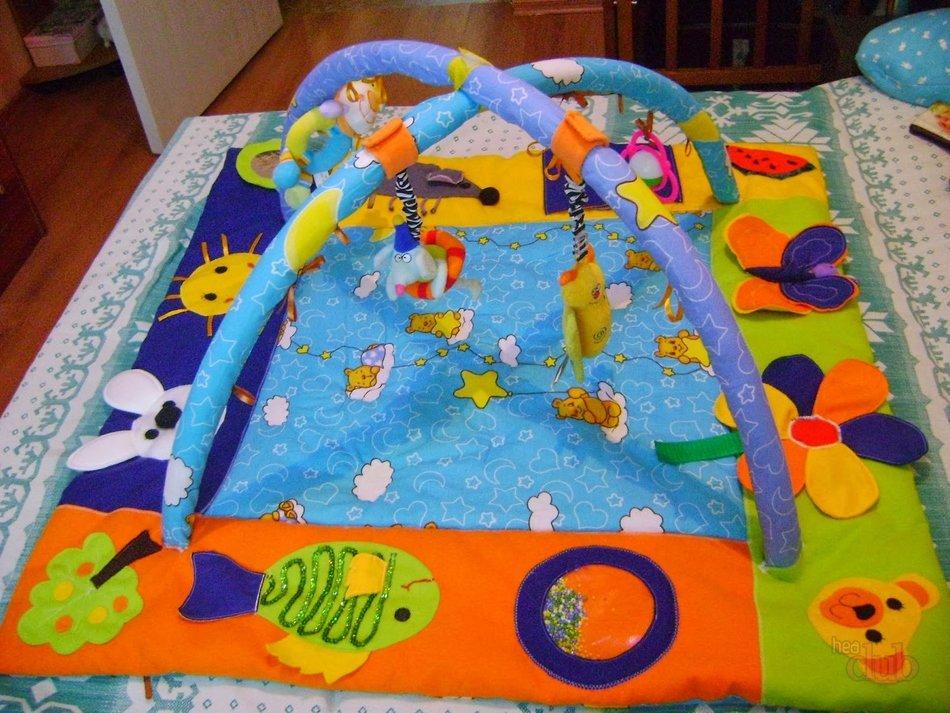 Развивающий коврик для новорожденного своими руками 17