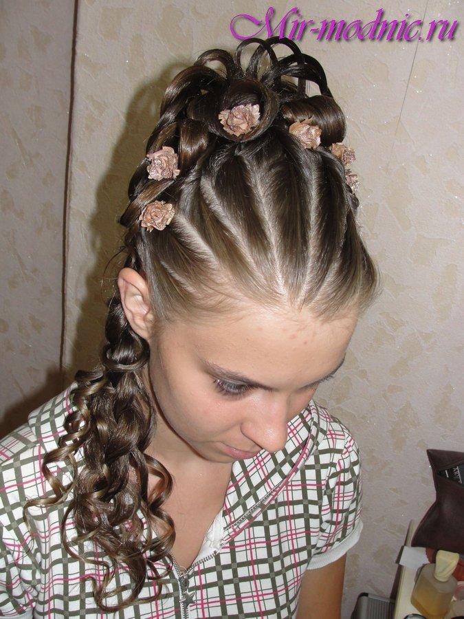 Прически для девочек на длинные волосы жгутиками