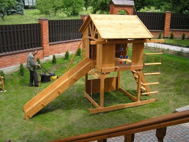 Деревянная площадка для дачи своими руками