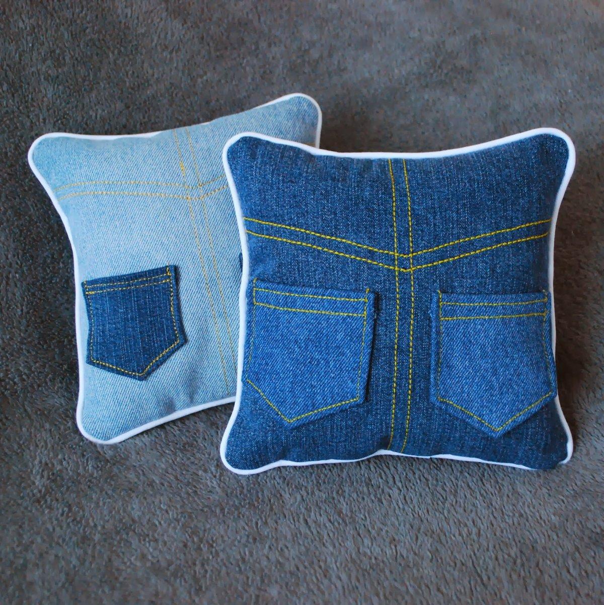 Как сшить подушку из старых джинс мастер класс