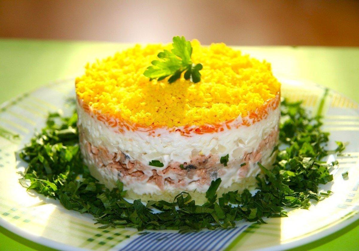 Салат мимоза с сыром и рисом рецепт пошагово