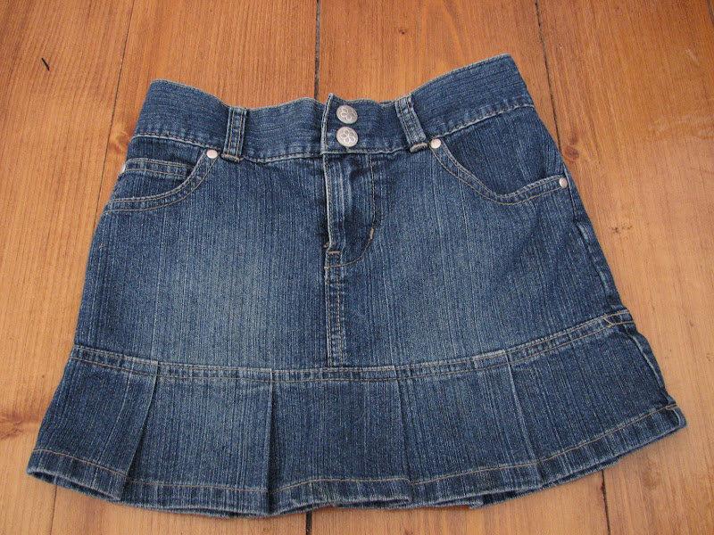 Сшить детскую юбку из старых джинсов мастер класс 7