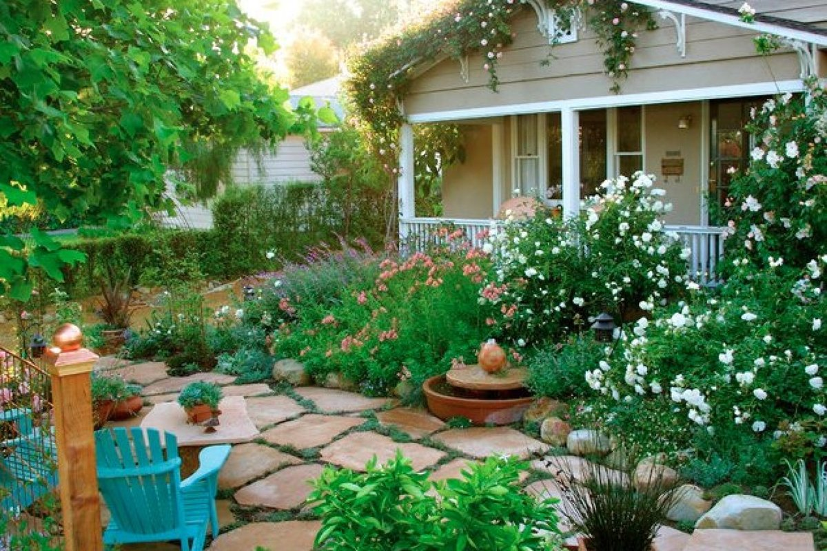 Идеи красивого двора частного дома своими руками фото 87