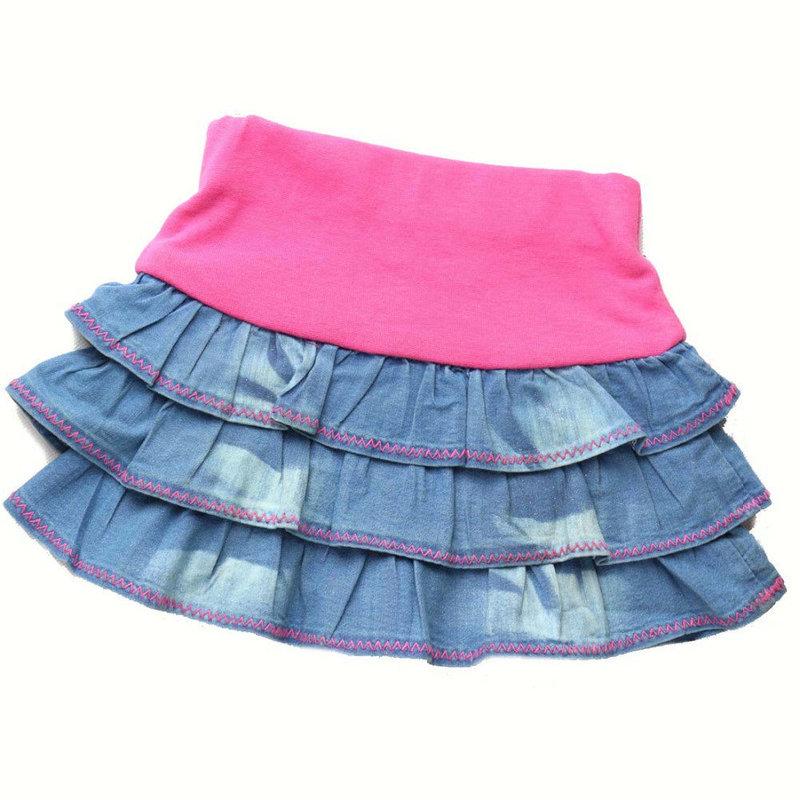 Сшить юбку для девочки своими руками фото