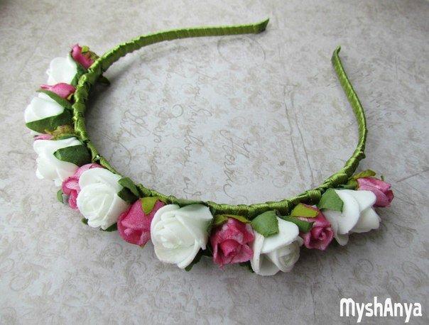 Ободки с цветами из фоамирана своими руками с пошаговым фото