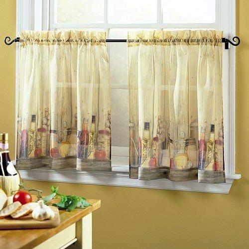 Креативные шторы для кухни своими руками