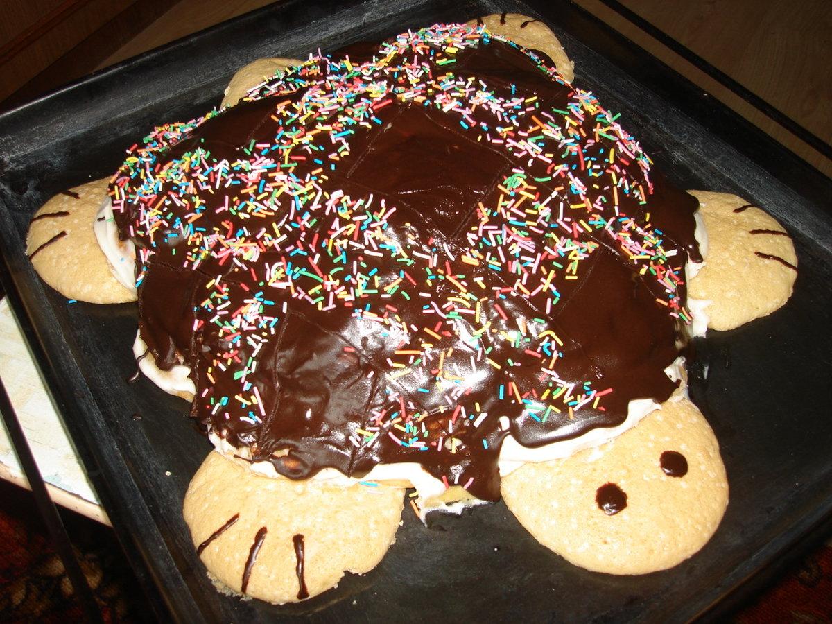 Рецепты тортов черепаха в домашних условиях с фото пошагово 317
