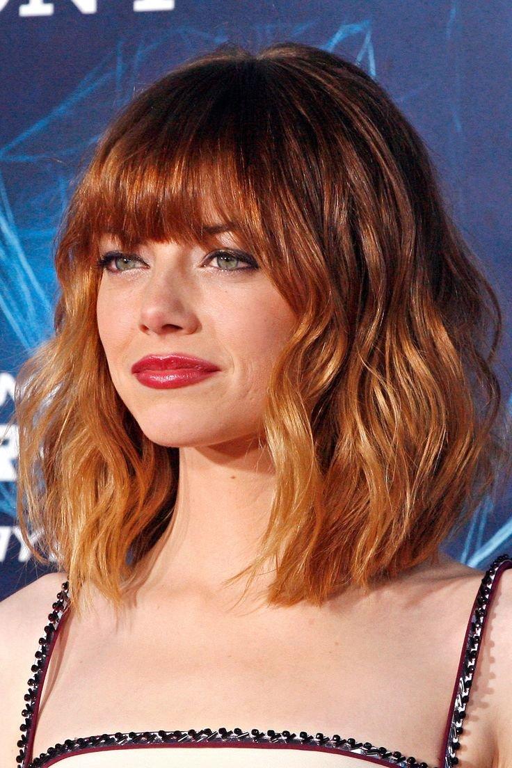 Рыжий цвет волос с челкой фото