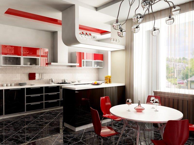 Дизайн кухни в квартире 2017-2018 современные