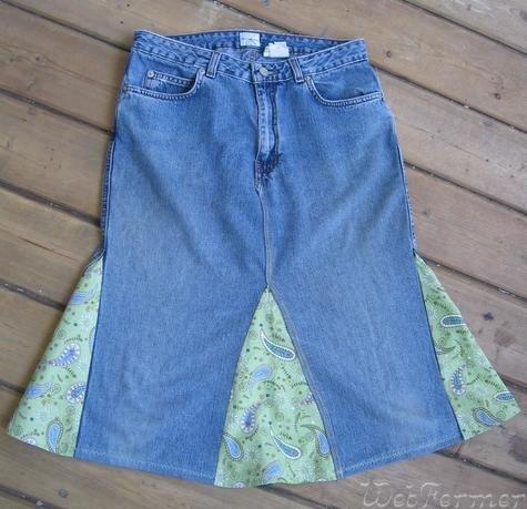 Сшить юбку из брюк быстро