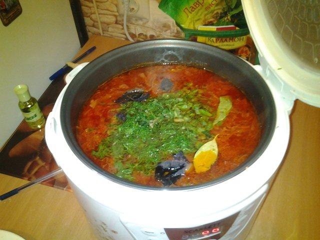 Борщ вегетарианский в мультиварке пошаговый рецепт с фото