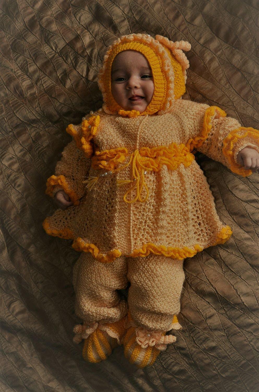 Вязание для новорожденных костюмчик для девочки 41
