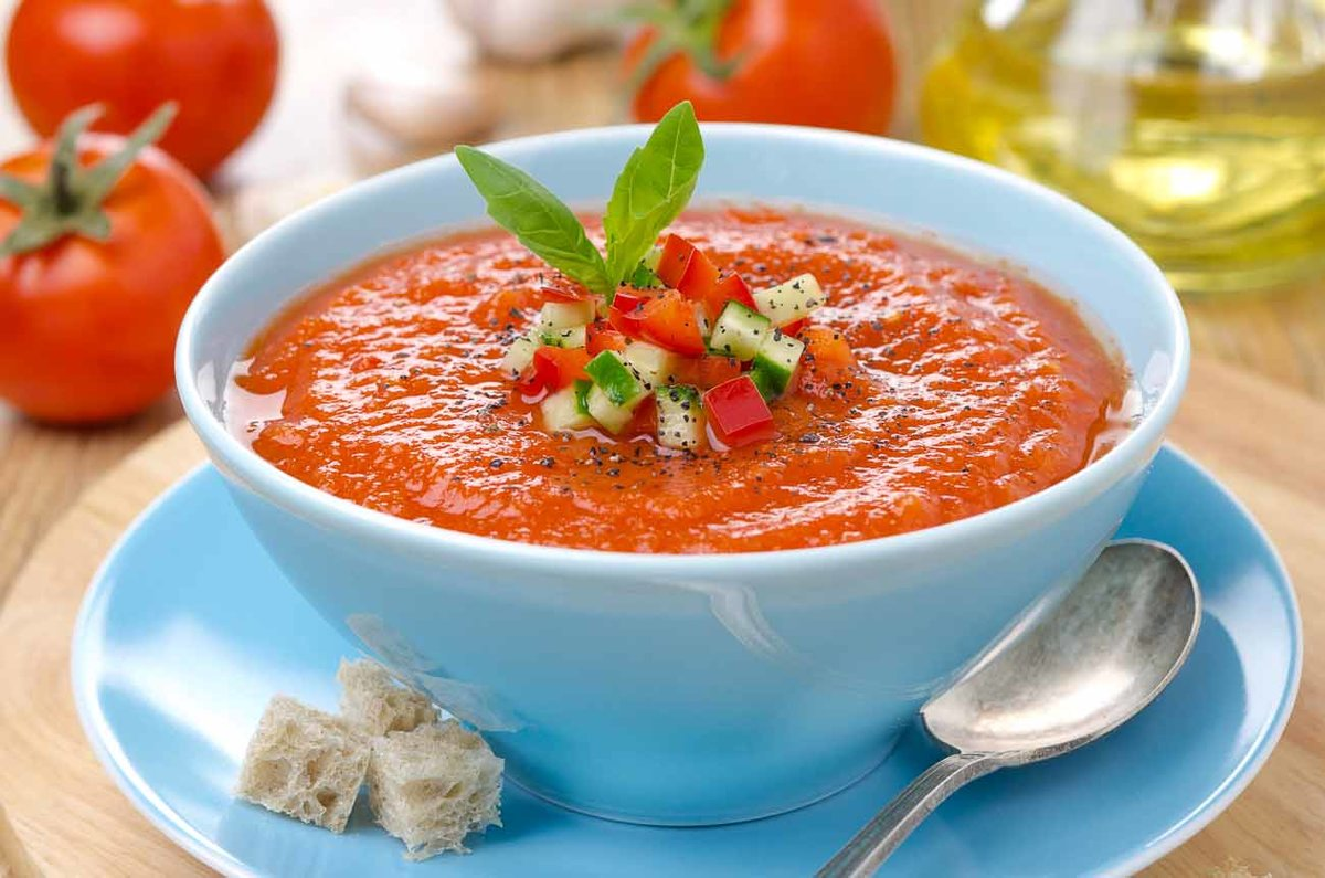 Рецепт гаспачо с томатным соком