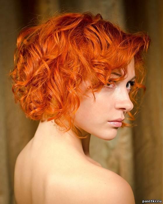 Фото причёски рыжие волосы
