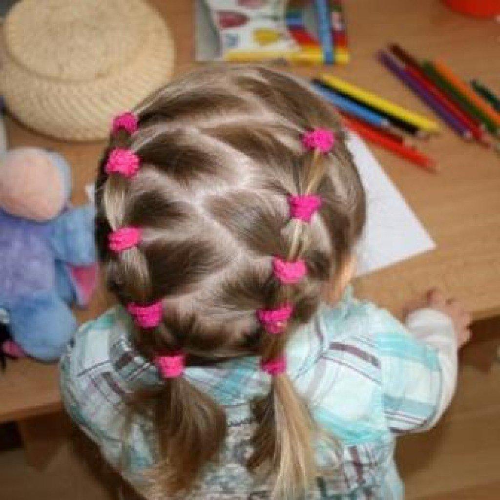 Легкие детские прически в детский сад