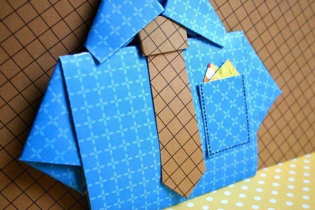 Рубашка своими руками из бумаги и картона